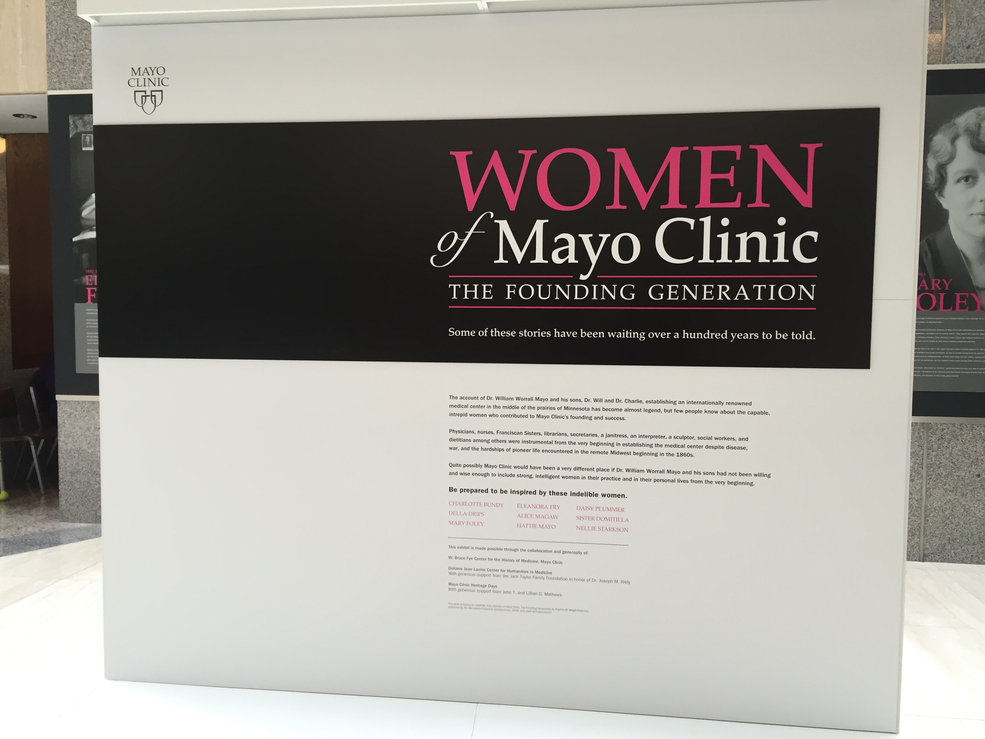 Women of Mayo Clinic: The Founding Generation is a reality